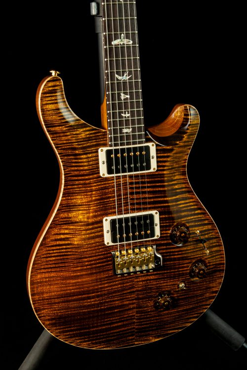 "PRS Custom 22 Piezo ""10-Top"" in Yellow Tiger"