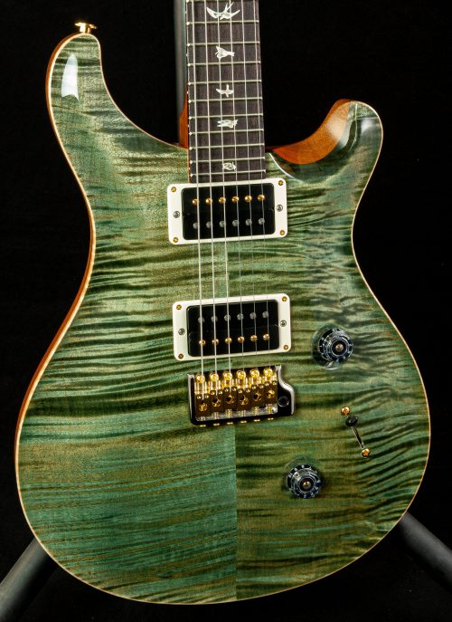 "PRS Custom 24 ""10"" Top Pattern Thin Neck in Trampas Green 2020"