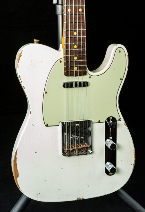 Fender Custom Shop 1961 Telecaster® Relic® in Aged Olympic White