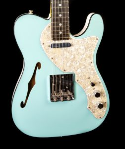 Fender Two-Tone Thinline Telecaster in Daphne Blue, Pre-Owned
