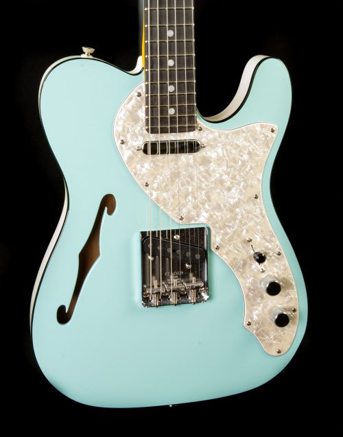 Fender Limited Edition Two-Tone Telecaster® in Daphne Blue/White, Pre-Owned