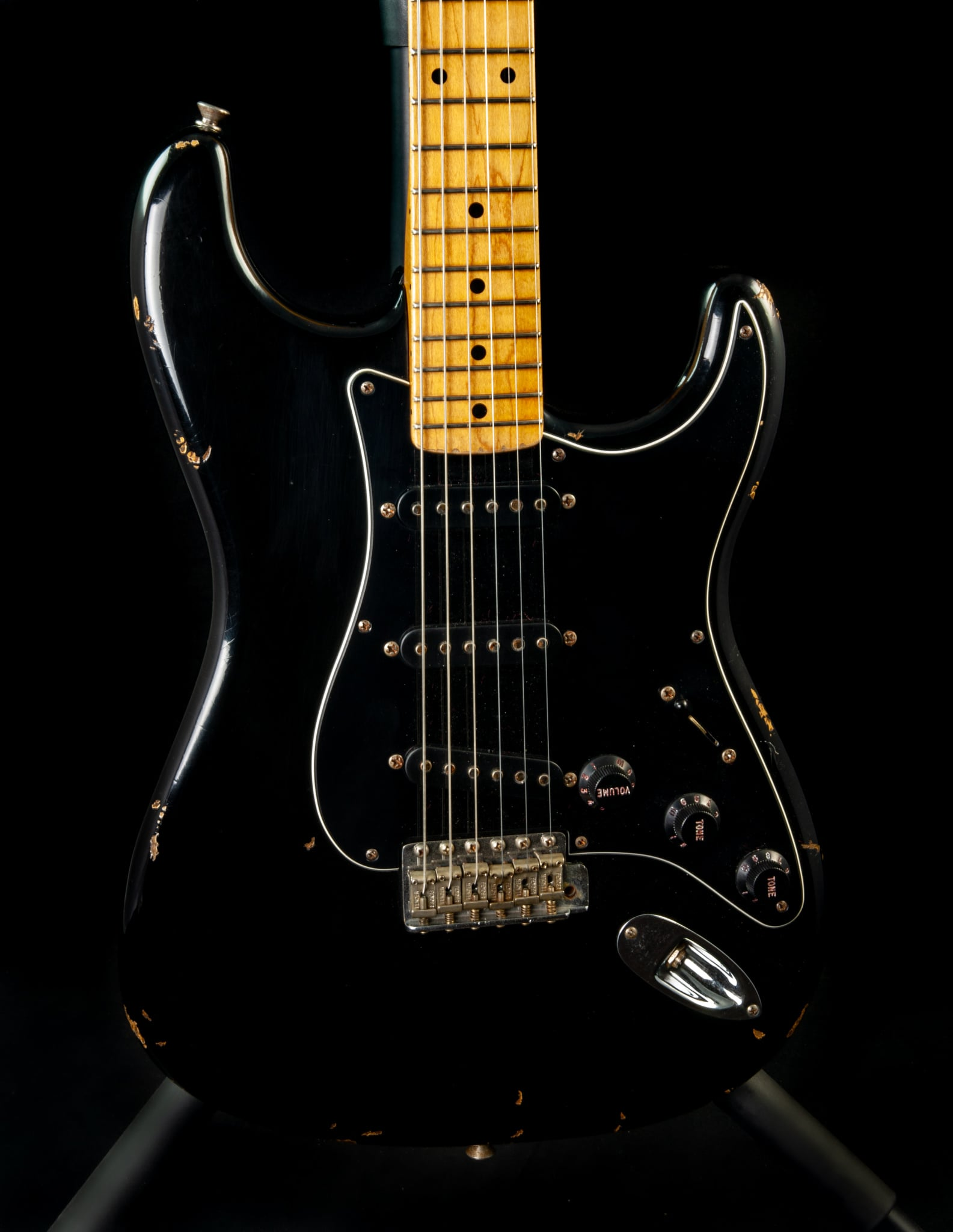 Fender Custom Shop '56 Stratocaster Relic in Aged Black, Pre-Owned