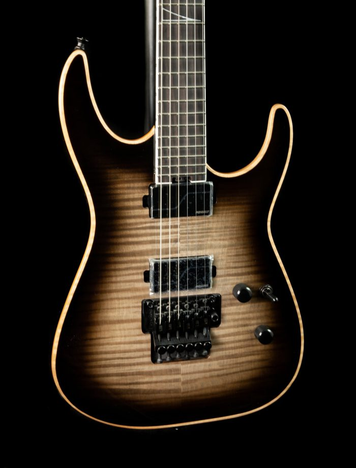 Jackson Limited Edition Wildcard Series Soloist w/ Flame Maple Top in Transparent Black Burst